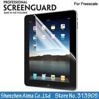 "10pcs/lot Free shipping CPAM Wholesale 10"" Lcd Screen Guard Skin for freecale Tablet Pc"
