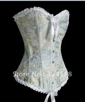 Promotion!! Free shipping!! ivory floral printed sexy corset, lingerie, push-up boned corset  (51)