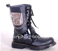 2011 han edition tide of tube male boots iron man boots accesories boots cowboy boots
