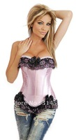 Promotion!! Free shipping!! pink bra suit available sexy corset, lingerie, push-up full-boned corset  (20027)