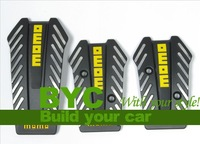 MOMO Black MT Car Aluminum Pedal for Universal Use-Car Styling
