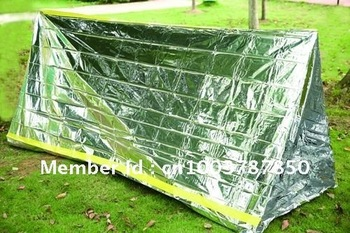5pcs/lot+Freeshipping+Thermal Emergency Tube Tent Survival Shelter Emergency Blanket Sleeping bag Manufacturer