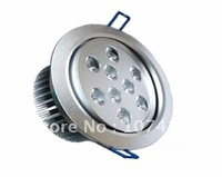 selling 9*1W high lumen led down light/ led ceiling light/ led commercial lighting for free shipping