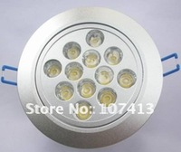 selling 12*1W high lumen led down light/ led ceiling light/ led commercial lighting for free shipping