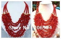 wholesales Beautiful design red Coral necklace lowest  fashion jewelry,gift free shipping