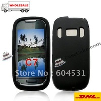 Wholesales 100pcs/lot  For NOKIA C7 silicone cases cover  DHL free shipping