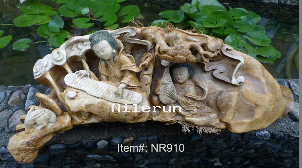 Bamboo root carving, bamboo root decoration, bamboo home decoration, handmade bambo craft, bamboo root sculpture engraving(China (Mainland))