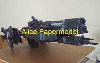 [Alice papermodel]Long 40CM halo UNSC Savannah spaceship robot models