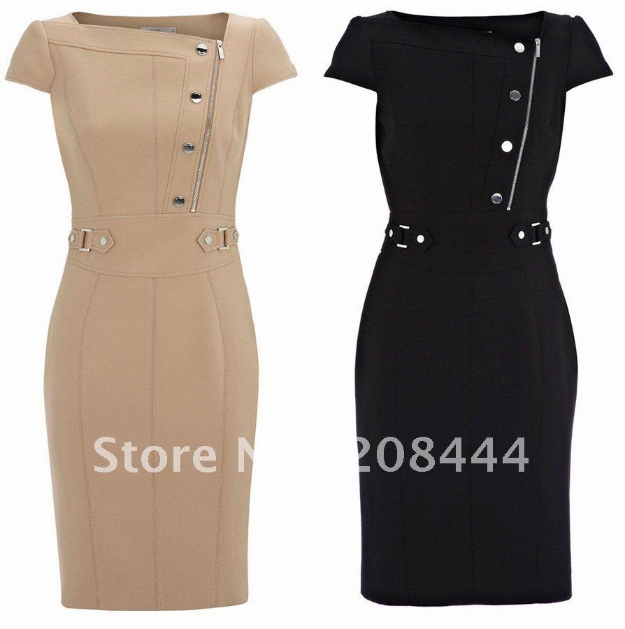 OL-commute-dresses-career-dress-short-sleeves-dress-pencil-dress-with ...