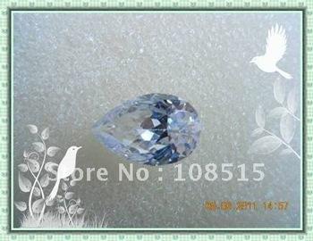 Derongems_Cubic Zirconia Diamonds Beads_Pear Shape Diamonds_White_size 8*12mm_Quality Guaranteed_Manufacturer Directly Sales