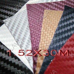 RETAIL!!! 1.52*1M/0.5M*2 3D carbon fibre vinyl car wrap / carbon fiber vinyl car wrap--color option