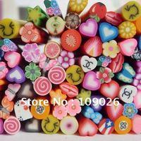 1000pcs Free Shipping Nail Decoration Canes Nail Art Sticker Polymer Clay