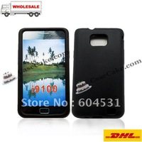 100pcs/lot  For Sumsung Galaxy S II /i9100  silicone cases cover  DHL free shipping