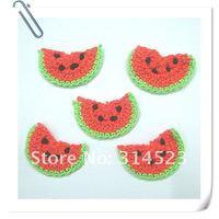 Hand crochet flower cotton watermelon 20pcs a lot free shipping