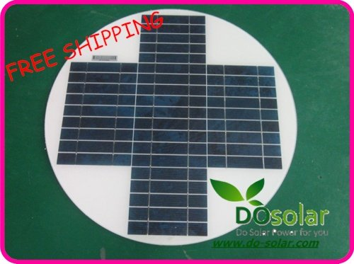 FREE SHIPPING--20W 18V round/circular solar panel for 12V charging battery, solar street/road light, A grade module, PV cells(China (Mainland))