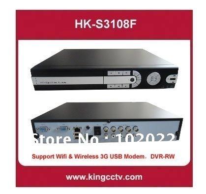 8CH Standalone DVR HK-S3208F Support Wifi & Wireless 3G USB Modem DVD RW Mobile phone Multi-language(China (Mainland))