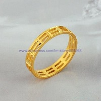 free shipping 50 pcs/lot fashion ring  gold 18 KGP ring high-grade ring best jewelry best gift