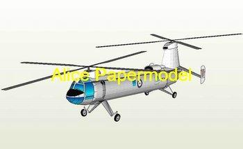 [Alice papermodel] Long 40CM British Bristol Belvedere helicopter Gunship models