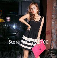 Женское платье 2013 Short Fashion Silk Dress CH3212