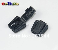 100pcs Pack Zipper Pull Cord Ends For Paracord & Cord Tether Tip Cord Lock Plastic Black Size: 18mm*17mm*8mm #FLS022-B