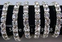 fashion popular single 6mm silver rhinestone crystal silver metal bracelet