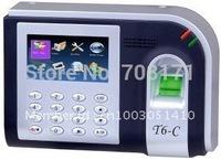 T6-C TFT 3.0 Screen inch Fingerprint Time Attendance USB fingerprint=3000