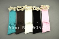 wholesale  free shipping 40 Pairs Girl's Socks Stocking Short Socks Size 13~19CM for 2~8 years Wholesale Baby Wear,drop shipping
