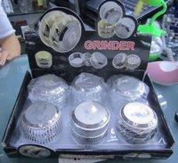 New arrivel alloy tobacco grinder silver cooling herb grinder 4.5*5.5cm cessorry tool
