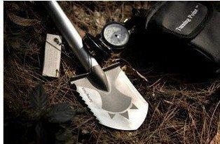 second multifunction light outdoor spade, outdoor shovel sharpening stone and nylon bag
