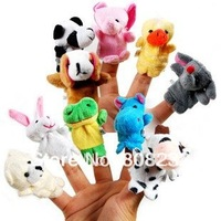 60Pcs/Lot Free Shipping Wholesale Finger Animal Puppet Animal Finger Baby Toy Soft Toy Animal Doll Toy Nice Gift