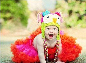 Hot! 24pcs/lot! Owl Crochet Baby Hats,Crochet children Animal Beanie,Christmas Caps,Free Shipping!