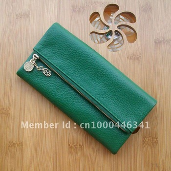 free shipping- HOTTING  Women's long style wallet,100%Genuine leather Purses,card case,Top grade wallets,2012 NEW
