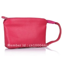 WHOLESALE(2pcs/lot),Women&#39;s Genuine leather Wrist bags,Clutch wallet  big capacity evening bag free shipping