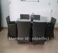 2012 rattan furniture/garden furniture/dining table and chair PF-4056