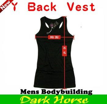 Free shipping  Men's sports Vest,Mens Bodybuilding Y Back Muscle Vest