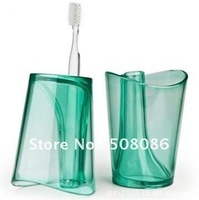 Clear& health toothbrush holder+water cup ,toothbrush stand free shipping wholesale
