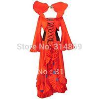Free Shipping+Heart no Kuni no Alice Wonderful Wonder World Queen Cosplay Costume