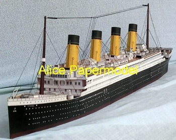 [Alice papermodel] Long 90CM Titanic passenger liner crusise waterline ship boat models