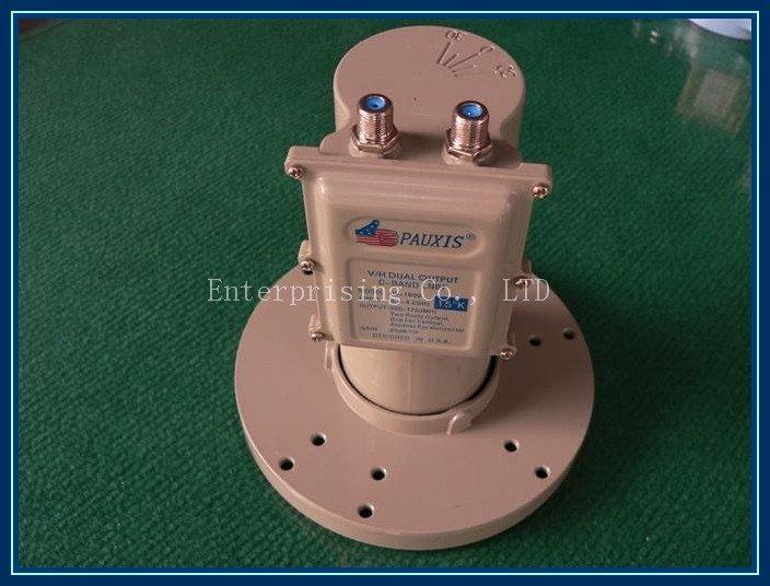 Lnbf banda C Free shippping V / H dupla saída Pauxis PX-1600 LNBF banda C(China (Mainland))