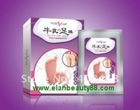 Wholesale 50pcs/lot Milky Exfoliating Foot Mask Free Shipping