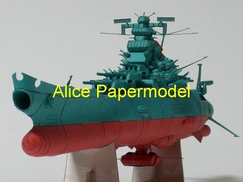 [Alice papermodel] Long 50CM Spaceship yamato Space Battleship Yamato spaceship space cruiser UFO models