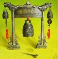 Rare Exquisite Tibetan Bronze Dragon feng shui Prayer Bell Free shipping