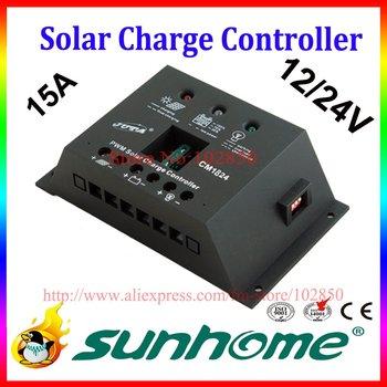 15A,12/24V auto solar system controller,solar panel charge controller,solar system charge regulator