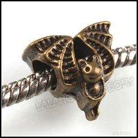 150pcs/lot Fashion Halloween Bat Charms Beads Loose Jewelry Accessory Fit European Bracelet DIY 151408