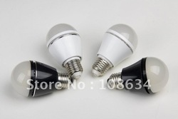 6W E27/E26/B22 70-80LM Replace 70W incandescent lamp LED Bulb led light(China (Mainland))
