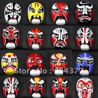 Paper Mache Masquerade Masks For Men Full Face Decorate Chinese Opera Mask 10pcs mix Free