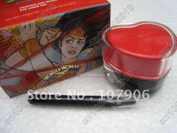 Free shipping!! Hot!!New Makeup Wonder woman Fashion and magic eye liner gel 6g in box50pcs/lot)Free gift  xu