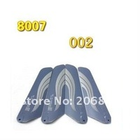 Free shipping 8007 main blades main rotors A/B rc spare parts accessories for 20cm rc helicopter QS8007 QS-8007