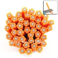 500cane Orange Flower Polymer Clay Cane Nail Art Free Shipping