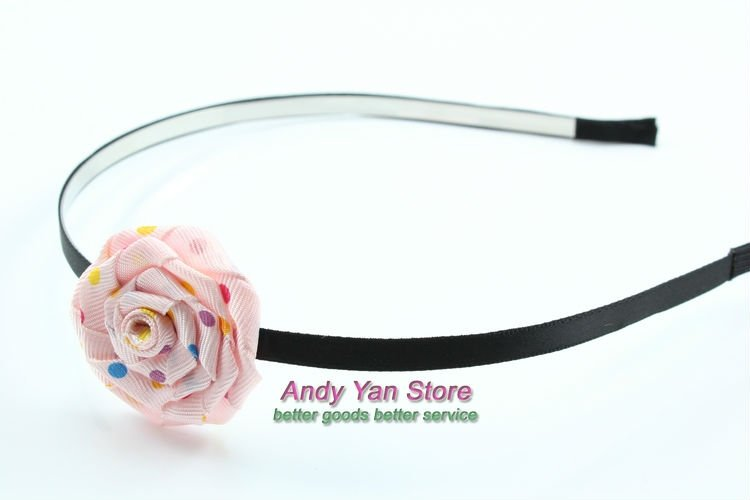 FREE SHIPPING cute ribbon rose hair pin, lady headwear women hair ornament girl hair clip female hair accessories,H0007